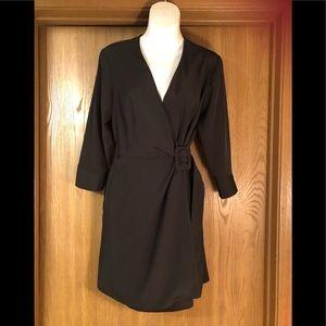 Black Top Shop wrap dress size 6
